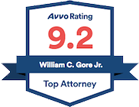 Avvo Rating 9.2 - top Attorney Badge